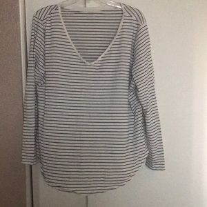 Old Navy Striped Black and white top